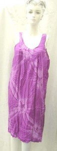 women's clothing. Sleeveless Bali rayon dresses. More designs and colors are available.