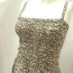 women's clothing sale. Trendy animal skin prints rayon long dresses. Adjustable shoulder stripes. Smocked tube top, elasticised on front and back.