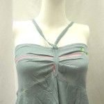 beach fashion distributor. Angle cut short dress with tube top and neck tie. Rayon, handmade in Bali Indonesia.