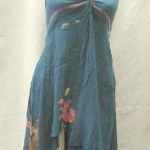 Wholesale Fashion Apparel. Angle cut short dress with tube top and neck tie. Rayon, handmade in Bali Indonesia.
