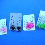 Fashion Jewelry Earrings. Beauty wear accessory earrings with design inlaid in translucent square charms.