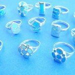wholesale silver rings. Turquoise selection 925. stamped sterling silver ring, randomly picked by our warehouse staffs.