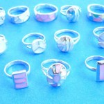 wholesale organic rings. Summer jewelry, fashion assorted seashell sterling silver ring, randomly picked by our warehouse staffs.