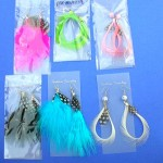 Organic Jewelry Earrings From Bali Indonesia. Hot style color feather earrings.