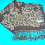 Poncho Shawl Scarfs Stole. flower-accent-shawl.