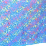 trendy women's clothing. Bali double process sarong floral blue.