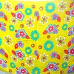 Wholesale Hippie Clothing Sarong. bright yellow floral beach sarong.