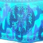 wholesale sarong bali. blue tie dye clothing bali rayon batick sarong in Celtic knotwork.