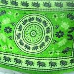 Sarong wholesaler. lucky animal elephants green saron.