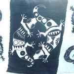 Wholesale Clothing. black and white large gecko sarong.