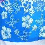 wholesale women's apparel. tropical florals blue sarong.