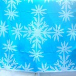 Wholesale Womens Clothing . snowflakes blue and white sarong.