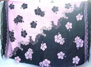 wholesale summer clothing. Aloha Hawaiian hibiscus flower summer beachwear yingyang black and pink color.