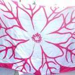 women's designer clothing wholesale. huge flower pink white sarong.