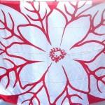 wholesale sarong bali. huge flower red white sarong.