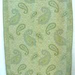 Viscose pashmina stole garment. gold-paisley-wool-shawl.