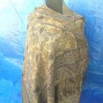 Viscose pashmina stole garment. gold-pashmina-shawl-womans