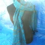 scarfs wholesale. gold-strips-rose-swirl-shawls.