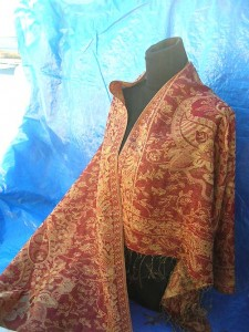 wholesale Pashmina Shawl. gold-thread-embroidery-paisley.