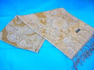 pashmina shawl manufacturer. gold-thread-pashmina-wool.