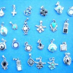 wholesale silver jewellery. Teen fashion mini gemstone sterling silver pendant, randomly picked by our warehouse staffs.