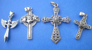 wholesale sterling silver jewelry. Elegant new age fashion cross sterling silver pendant, randomly picked by our warehouse staffs.