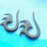 Wholesale earring. Natural bone carving tribal earring piercing jewelry.