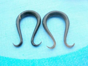 Wholesale Organic Body Jewelry. organic ear expanders in U shape with wavy.