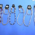 wholesale slave bracelets. Alternative pop fashion silver bead necklace and bracelet set.