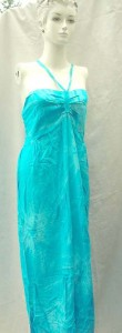 Cheap Wholesale Clothing. Rayon long dresses with tube top and neck tie. Smocked back on top part. Assorted colors and designs in animal, sealife, planets, floral designs randomly picked by us.