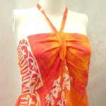 Wholesale bali dresses. Rayon long dresses with tube top and neck tie. Smocked back on top part. Assorted colors and designs in animal, sealife, planets, floral designs randomly picked by us.