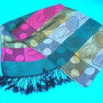 Pashmina fashion accessories. metallic-layers-ovals-pashmina.