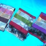 wholesale cashmere scarf. metallic-layers-ovals-pashmina.