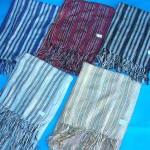 Silk Pashmina Shawls. metallic-thread-strips-shawls.