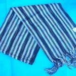 shawls scarves wraps. metallic-thread-strips-shawls.