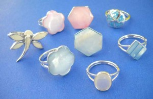 Wholesale Silver Jewelry. Fine selection sterling silver seashell ring, randomly picked by our warehouse staffs.