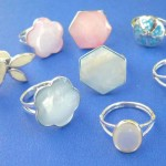 Necklaces Rings. Fine selection sterling silver seashell ring, randomly picked by our warehouse staffs.