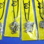 Jewelry Broochs pendants wholesale. Fine handmade custom gothic pendant on black braid necklace.