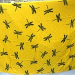 womens wholesale sarongs. yellow dragonfly sarongs.
