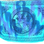 Wholesale women's clothing. Celtic Maiden goddess sarong in blue tie-dye.