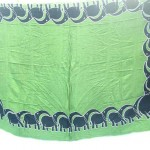 Sarong Apparel. elephants on borders sarong green.