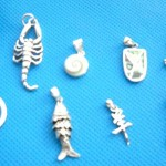 Rings Pendants In Sterling Silver. Sealife mix sterling silver 925. pendant, randomly picked by our warehouse staffs.