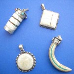 gemstone pendants. Ancient beautiful collection, sterling silver animal teeth pendant, randomly picked by our warehouse staffs.