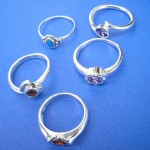 Jewelry Rings. Precious cubic zircoina 925. sterling silver ring, randomly picked by our warehouse staffs.