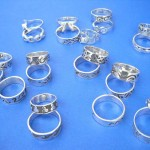 Silver Rings. Assorted theme fashion sterling silver ring, randomly picked by our warehouse staffs.