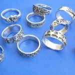 wholesale silver rings. Hip hop fashion graved quality sterling silver ring, randomly picked by our warehouse staffs.