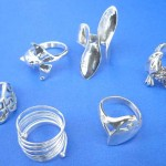 organics jewelry. Sterling silver fashion collection plain ring, randomly picked by our warehouse staffs.