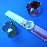 wholesale wrist watches. Fun slap band wrist watch in trendy colors.
