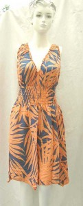 Wholesale Women's Clothing Distributors. Sleeveless sundresses with elasticised smocked waist, uneven small angle cut bottom. 100% rayon handmade in Bali Indonesia.