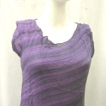 women's clothing wholesale selection. Fashionable angle cut rayon top.